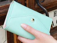 Wholesale Women Crown Purse Pure Color Wallets Envelope Phone Pocket Clutch Bags Multifunctional Card Holders
