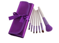 Wholesale Makeup brush set High quality Set Purple Makeup Brush Cosmetic Brushes Portable Bag