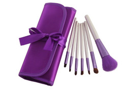 Wholesale Makeup brush set High quality Set Purple Makeup Brush Cosmetic Brushes Portable Bag