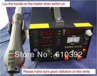 SAIKE 220V SAIKE 909D DHL Free Shipping 220V SAIKE 909D Soldering Desoldering Station Welding machine 3 in 1 Soldering iron+Hot Air Gun+Power Supply