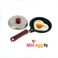 Wholesale with cover frying pan mini non stick pan frypan for home retaurant travel as cookware products