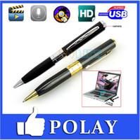 None pen camera - Top quality HD Spy pen Camera hidden Pen camera with avi DVR Micro SD Card slot hot selling Hidden camera from