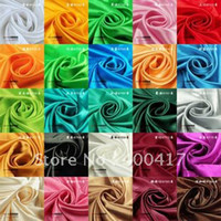 Wholesale 24 yards solid color Satin Fabric used for Stage clothing Chair sashes Church Upholstery Celebration Party Layout A