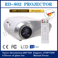 LCD 3 Pieces of Glass Lens 480*320 New Mini Projector For Home Cinema Support TV Video Games XBOX One PS3 Led Projector HDMI Portable Entertain Multimedia