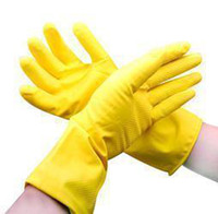 Wholesale Four Jin Guandong square red latex gloves clean laundry washing gloves gloves gloves housework A484