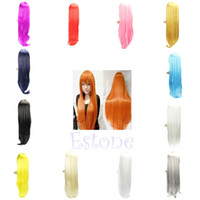 Brazilian Hair Ombre Color Straight Long Straight Wig Heat Resistant Sexy Fashion Full Hair Cosplay Costume Party