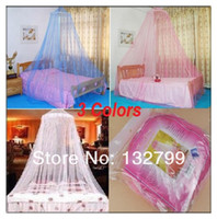 Polyester / Cotton Cotton Column Bed Canopy Netting Curtain Mosquito Nets Dome Fly Midges Insect Stopping Net Outdoor 3 Colors