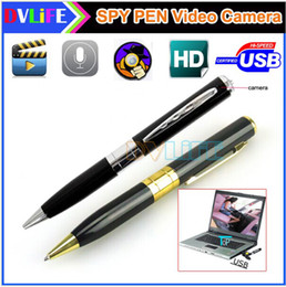 Wholesale Hot Sale HD Hidden Pen Spy Camera with Micro SD Card Socket DVR Digital Video Recorder FPS WAV JPG Built in Microphone Web Camera