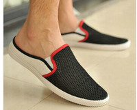 Slip-On Men Canvas 2014 new summer men canvas shoes british style pedal lounged shoes breathable sneakers sandasl&slippers autumn&spring