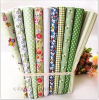 Wholesale green CMx40CM Designs mixed Cotton Fat Quaters Tilda cloth Quilting scrapbooking Patchwork Fabric Woven patchwork quilt