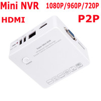 Wholesale 4CH Mini NVR IP Camera Recorder Surveillance P P P HD Cloud P2P ONVIF HDMI VGA E SATA HDD Connection USB White S241