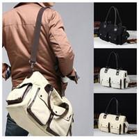 Wholesale Vintage Hot Latest High Quality Unisex Men Women Canvas Handbag Cross Body Bags Totes Fashion Shoulder Bag colors H11137