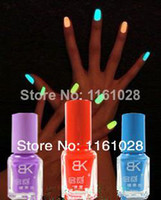 Wholesale High quality BK ml Neon Fluorescent Non toxic Nail Polish Nail Varnish Lacquer Paint Nail Art for Lady Girl safe and economic