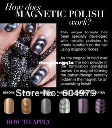 Wholesale Lastest HOT Magnetic Nail Polish Colours Available With Designs Magnet each bottle with one magnet