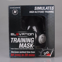 Wholesale Elevation Training Mask M SIZE Medium lbs mma fitness high altitude exercise supplies Sport Mark Hot men sport Outdoor Sports
