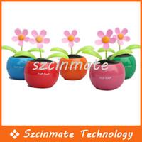 Wholesale Swing Solar Flower Cute Flip Flap Solar Plant