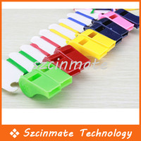 Wholesale Colorful Plastic Sport Whistle With Lanyard