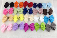 Barrettes Cloth Solid Children Hair Accessories Barrettes Baby Girls Big Ribbon Bows With Clips Kids Flower Hairpins Boutique Koearn Style M0088