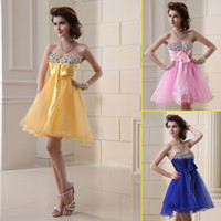 Reference Images Organza Sweetheart 2014 Cheap For Sale Under 50 Ready to wear Royal Blue Organza Short Homecoming Dresses Shiny Prom Dress A-Line Sweetheart Party Dress