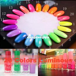 Wholesale Bottles Candies Color Fluorescent Luminous Neon Glow In Dark Varnish BK Nail Art Polish designer