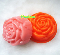 FDA Silicone Rubber  2014New High Quality Silicone Rose Soap Molds Candle Molds jelly Moldes. 3D Handmade soap silicone mold.