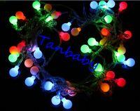 Wholesale M leds holiday lighting v V led ball string light colorful led christmas decoration light