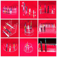 Wholesale Acrylic e cig display showcase show shelf ego holder rack for ecig electronic cigarette stand shelf holder