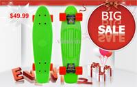 Wholesale NEW RETRO STYLE SKATEBOARD quot x quot COMPLETE RETRO CRUISER SKATE BOARD PLASTIC