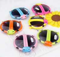 beatles babies - Children Baby Folded Beatles Ladybug child glasses Frame Sunglasses Beach Sunblock Accessories Blinkers