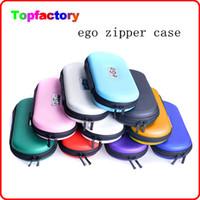 Promoción Venta eGo Zipper Carrying Case for ego cigarrillo electrónico kit tamaño pequeño tamaño medio tamaño grande ego-t bolso varios colores DHL free
