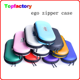 Wholesale Promotion Sale eGo Zipper Carrying Case for ego Electronic Cigarette kit Small Size Middle size Big Size ego t Bag Various Colors DHL free