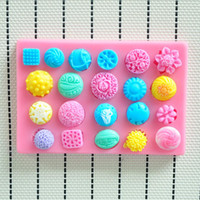 Wholesale NEW Beautiful flowers hower party fondant molds silicone mold soap candle moulds sugar craft tools chocolate moulds bakeware
