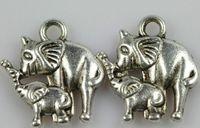 Charm Bracelets Fashion Charms Free Shipping Wholesale Vintage 100pcs Antique Silver Alloy Elephants Baby Elephant Charm Pendant DIY Jewelry Fitting 14*15mmE95