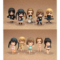 PVC mio - Hot sale set MM Anime K ON PVC figure Toy Hirasawa Yui Akiyama Mio With Musical Instruments