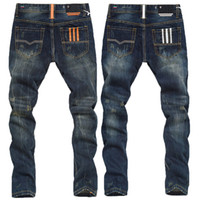 Wholesale W29 W38 New Italian Fashion Famous Brand Men s Jeans Plus Size Designer Straight Denim Slim Fit Ripped Jeans Men