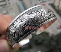 Bangle Fashion Bangles Wholesale free P7P>>>10pc Cuff - - small carp - - - - miao silver tibetan silver bracelet