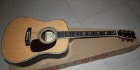 Wholesale New brand acoustic guitar with ebony fingerboard and all solid wood with all abalone inlay