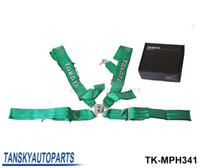 Wholesale Tansky Black Green TAKATA Car Seat Belt with FIA Homologation Harness Racing Satefy Seat Belt width inches Point TK MPH341