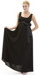 Wholesale Formal Design Black Chiffon With Sash Maternity Dress