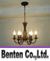 antique wrought iron - European antique wrought iron lamps lighting the living room bedroom den teahouse restaurant bar cafe candle chandelierLLFA5810