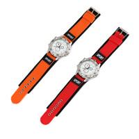 Wholesale 2014NewArrival FreeShipping Unisex White Matrix Pattern Nylon Band Wristwatch