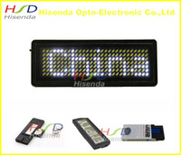 Wholesale White LED name badge sign scrolling advertising business card show display tag mini LED display board dots