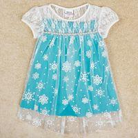 Wholesale 2y y girls dresses frozen dress design kids princess party dresses nova summer children clothing baby girl wedding dress H5253