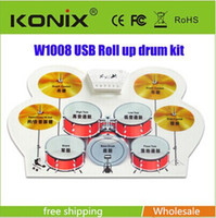 drum - USB electronic drum silicone drums electronic drum with drumsticks rollable Christmas Electronic Musical Instruments new