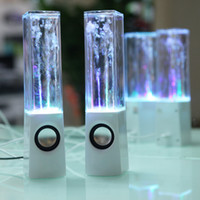 Wholesale Dancing Water Speaker Active Portable Mini USB LED Light Speaker For iPhone S S iPad Air PC MP3 MP4 PSP PC DHL