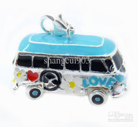 american bus - Hotting sale silver necklace pendants a tool bus for child brand new