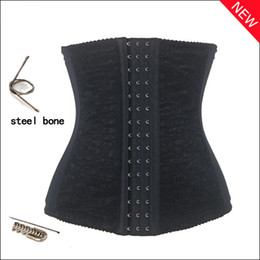 Wholesale Steel Bone Waist Cincher Trainer Body Shaper Corset Tight Lacing Waist Cincher Black Nude