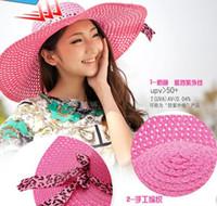 Wholesale Korean female summer beach hat sun hat UV sun hat large brimmed hat