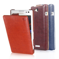 Cheap For Sony Ericsson Sony Xperia C S39h case Best Leather White Sony Xperia C flip case