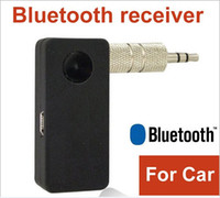 Wholesale Hand free Stereo Audio Music Speaker Bluetooth Receiver For Car AUX IN Sumsung Galaxy Note S3 SIII i9300 S4 SIV i9500 Laptop